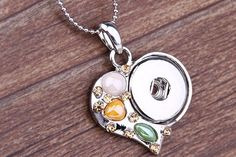 Ginger Snaps Jewelry Inspired Large Snap Charm Pendant  //