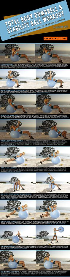 Total Body Dumbbell & Stability Ball Workout