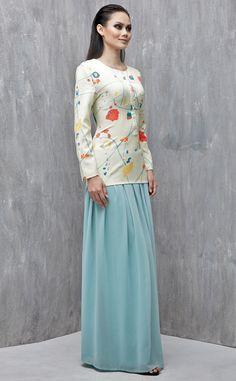 EMEL X DAPHNE IKING - GREENMARK - Exclusive Prints Modern Baju Kurung (Print)  This 8db7dab742