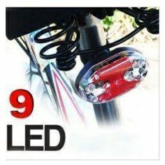7 Mode Bright Mountain Bike 9 LED Red Cycling Flashing Tail Rear Light