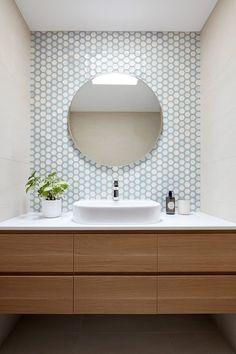Oak House by Bryant Alsop Cozy Bathroom, Diy Bathroom Decor, Bathroom Renos, Bathroom Ideas, Modern Bathroom Design, Bath Design, Bathroom Interior Design, Modern Powder Rooms, Industrial Wall Lights