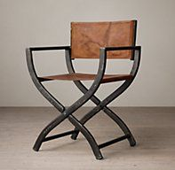 Restoration Hardware director chair Interesting look with wood table and reclaimed floors : director chairs with side table - Cheerinfomania.Com