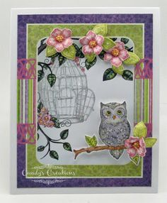 Lavender Owl Card by Candy S. - Cards and Paper Crafts at Splitcoaststampers