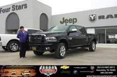 Congratulations to Robert and Nala Chambers on your #Ram #3500 purchase from Tracey Frerich at Four Stars Auto Ranch! #NewCar