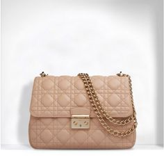 Miss Dior' Bag Rose Poudre Lambskin With Shoulder Strap 39