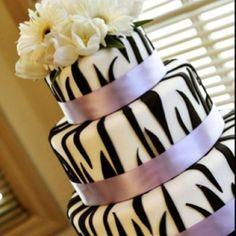 Zebra wedding cake!