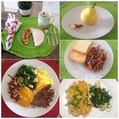 Diário do cardápio de hoje: café da manhã: tapioca com ovo banana com canela leite dest. C/ cafe; Almoço: cuscuz couve com ovo creme de abóbora (de ontem) antepasto de berinjela bife; Lanchinho15h: pera e castanha do Pará; lanche17h:2 torrada integral antepasto de berinjela; Janta: cuscuz com filé de peito de frango tomate e milho couve com ovo. Ah é estou tomando água com gengibre já que ainda não aprendi tomar chá kkkkkk Mtooo Bom por hj é só!!! #sersaudavel #comidadeverdade #lowcarb…