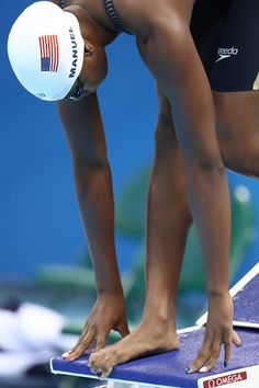 #RIO2016 Simone Manuel of the United States competes in the Women's 50m Freestyle heat on Day 7 of the Rio 2016 Olympic Games at the Olympic Aquatics Stadium...