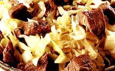 Receita de carne com molho shoyu e repolho para a fase cruzeiro PL dukan.