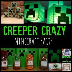 creeper crazy minecraft party, my kiddo would love this