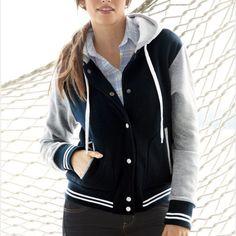 Ladies Varsity Sweatshirt Jacket