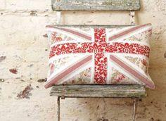 Vintage Fabric Union Jack Cushion