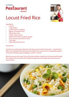 Our locust fried rice brings an etomophagy twist to a take away classic. Find more recipes here: http://cookbook.pestaurant.com/
