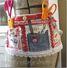 Tool Belt for sewing or crafts.. this is cute