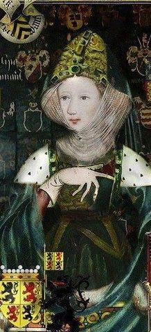 wife to king Edward lll..phillipa of Hainault whose marriage was celebrated at York minster in 1328......Philippa and Edward had fourteen children,[17] including five sons who lived into adulthood and the rivalry of whose numerous descendants would, in the fifteenth century, bring about the long-running and bloody dynastic wars known as the Wars of the Roses.