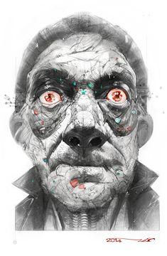 Man on LSD , Ali Kiani Amin on ArtStation at https://www.artstation.com/artwork/man-on-lcd