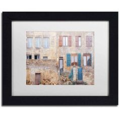 Trademark Fine Art 'Facade II' Canvas Art by Cora Niele, White Matte, Black Frame, Size: 11 x 14, Multicolor