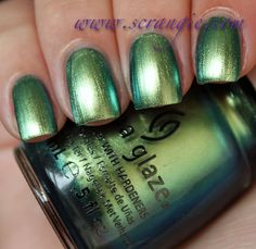 Scrangie: China Glaze New Bohemian Luster Chrome Collection Fall 2012 Swatches and Review - Unpredictable