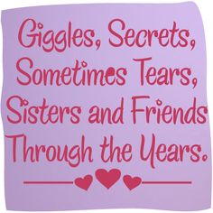 Short Sister Quotes | Sisters and Friends Vinyl Wall Art, Mirrorin - UK's No1 Childrens ...