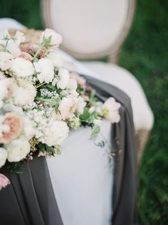 soft blush and white wedding flowers - romantic floral bouquet - photo by Tyler Rye Photography