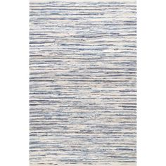 Biehl Hand Loomed Cotton Blue/Beige Area Rug