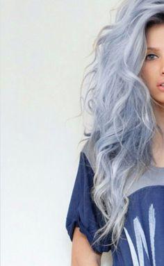 Blue pastel colour hair