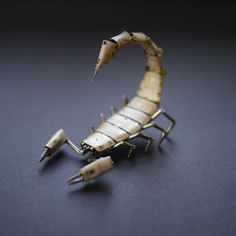 Justin Gershenson-Gates of A Mechanical Mind's gorgeous creatures from gears and watch pieces: Mechanical Scorpion No 7