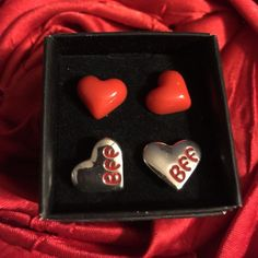 Valentine's BFF Earrings Set Valentines Day BFF  earrings Set for ages 4 and up! Makes awesome ❤️ gift! Free gift with purchase! Avon Jewelry Earrings
