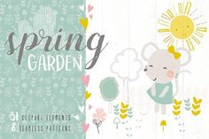 Spring Garden Vector Pack by DillyPeach on @creativemarket