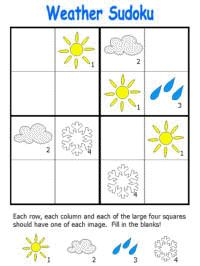 Weather Sudoku.   -Repinned by Totetude.com