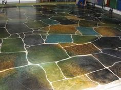 loving the look of this floor - so fun and creative