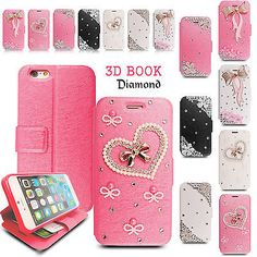 Luxury bling crystal flip #stand wallet case cover for i#phone #samsung #phone,  View more on the LINK: http://www.zeppy.io/product/gb/2/191812166578/