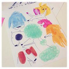 Dog days #doodles #dogs #pdx #ink