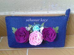 Astarlı cüzdan, 3 boyutlu güller. Tamamen el emeği