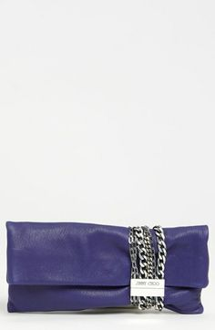 Jimmy Choo 'Chandra' Leather Clutch available at #Nordstrom