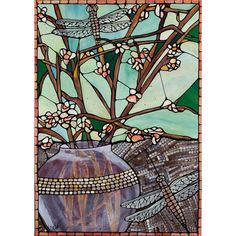 "Original Fine Art Print Dragonfly Stained Glass, 8x10"" Emerald Green... ❤ liked on Polyvore featuring home, home decor, aqua home decor, dragonfly home decor, aqua home accessories, dragonfly stained glass and emerald green home decor"