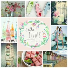 Nearly summer, Hello June! #moodboard #mosaic #collage #inspirationboard #byJeetje♡