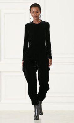 Megan Velvet Jumpsuit - Collection Apparel Pants - RalphLauren.com
