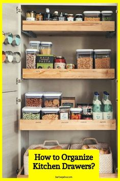 Kitchen Cabinet Organizers (Corner and Pull Out Organizer Ideas) Best Kitchen Cabinets, Kitchen Drawers, Base Cabinets, Storage Cabinets, Kitchen Drawer Organization, Cabinet Organizers, Home Depot Kitchen, Small Space Kitchen, Cool Kitchens