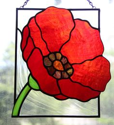 Red Poppy Blossom Stained Glass on Behance