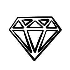 Image result for diamond clipart black and white