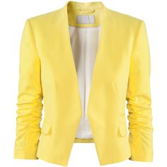 A fashion look from March 2013 featuring seamless tank tops, sleeve blazer and skinny fit jeans. Browse and shop related looks. H&m Jackets, Line Jackets, Outerwear Jackets, Jacket Buttons, Blazer Buttons, Blazer And Shorts, Blazer Jacket, Blazers, Yellow Blazer