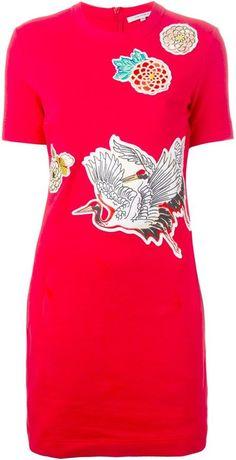 Carven crane bird print dress Crane Bird, Carven, Bird Prints, Ss16, Trends, Mens Tops, T Shirt, Ideas, Dresses