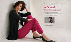 The J.Jill Wearever Collection. All's well that mixes well. Every new Wearever top, skirt, color & print (for a new look every day) - mix thoroughly and enjoy!