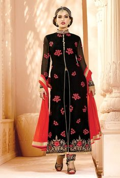 Black designer Indian Punjabi suit with embroidered pants | Indian Ethnic Wear | Scoop.it