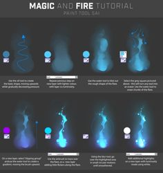 Drawing Tips since I've drawing a lot of glowy magic/fire things lately,,,,here's a tutorial with brush settings! Digital Painting Tutorials, Digital Art Tutorial, Painting Tools, Art Tutorials, Digital Paintings, Eye Drawing Tutorials, Face Paintings, Body Painting, Photoshop For Photographers