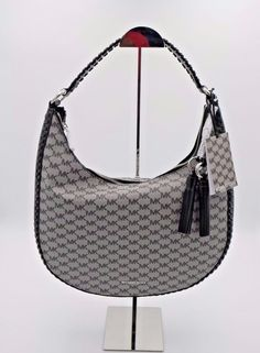 ae3366aea885 NWT MICHAEL Michael Kors Black Signature Logo Lauryn Large Hobo Shoulder Bag   MichaelKors  ShoulderBag