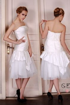 Not on everywhere, exclusive tea-length dress. A-line strapless tea-length satin tulle wedding dress with pleated. We're small enough to take good care of your big ideas. 20+ colors, custom any sizes. Find out more...