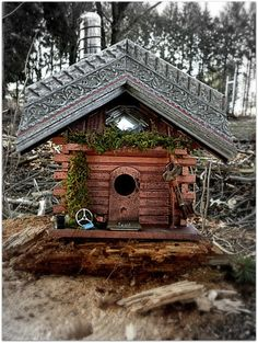 Fathers Day Gifts- Recycled / Upcycled Handmade Bird House by UncommonRecycables, $49.00