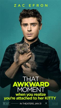 "Zac Efron gets the GIF treatment in a new animated poster from ""That Awkward Moment"". Check it out! - Team ZE thatawkwardmoment..."